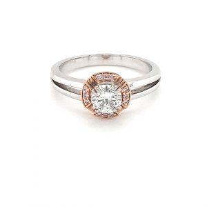 Pink Argyle and RBC White Diamond Engagement Ring_0