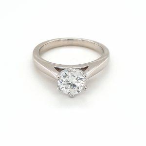 18K White Gold RBC Solitare Engagement Ring_0