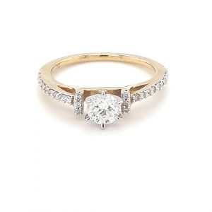 18K YELLOW GOLD DIAMOND ENGAGEMENT RING_0