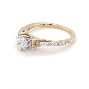 18K YELLOW GOLD DIAMOND ENGAGEMENT RING_1