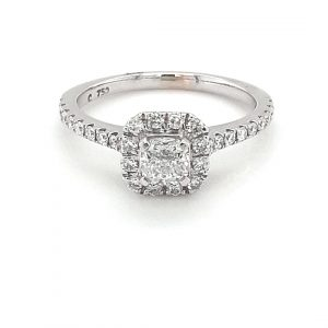 4-CLAW AND CLUSTER SET DIAMOND RING_0