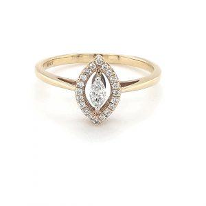 YELLOW GOLD MARQUISE DIAMOND RING_0