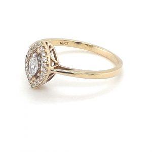 YELLOW GOLD MARQUISE DIAMOND RING_1