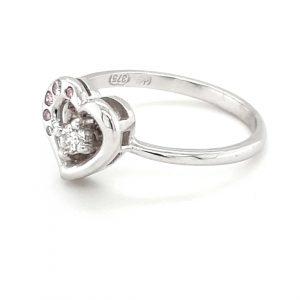 HANDMADE WHITE GOLD PINK DIAMOND RING_1