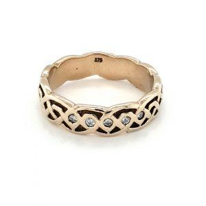 CELTIC FULL TWIST DIAMOND RING_0
