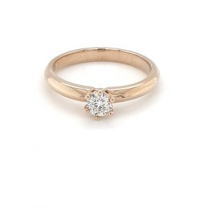 9K YELLOW GOLD SOLITAIRE ENGAGEMENT RING_0