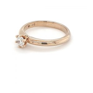 9K YELLOW GOLD SOLITAIRE ENGAGEMENT RING_1