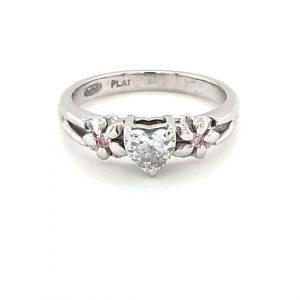PLATINUM WHITE AND PINK DIAMOND RING_0