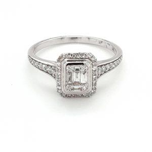 9K WHITE GOLD DIAMOND RING_0