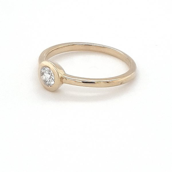 9K YELLOW GOLD SOLITAIRE RUBOVER SET RING_1