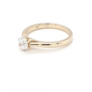 9K YELLOW GOLD 6-CLAW SET SOLITARE RING_1