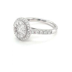 18K CLUSTER WHITE GOLD DIAMOND RING_1