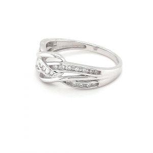 9K WHITE GOLD SPLIT BAND DIAMOND RING_1