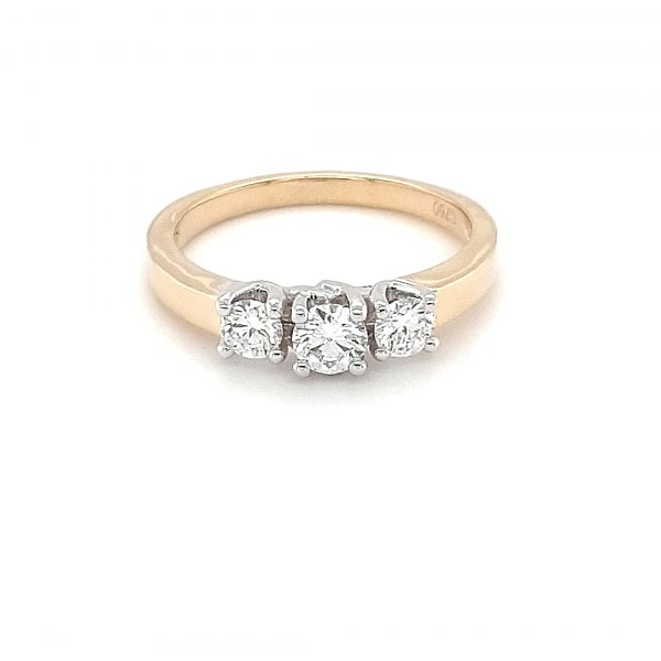 YELLOW AND WHITE GOLD TRINITY RING_0
