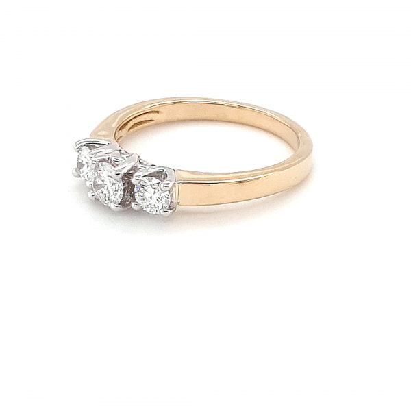 YELLOW AND WHITE GOLD TRINITY RING_1