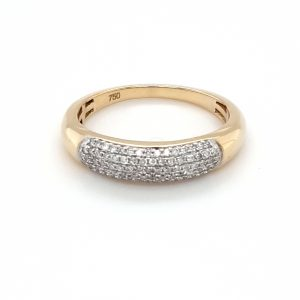 18K YELLOW GOLD AND 79 DIAMOND RING_0