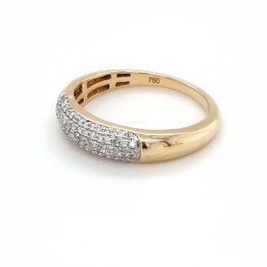 18K YELLOW GOLD AND 79 DIAMOND RING_1