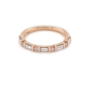 18K ROSE AND WHITE GOLD BAR SETTING ARGYLE PINK DIAMOND RING_0