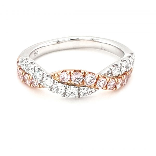 WHITE AND ROSE GOLD ARGYLE PINK DIAMOND TWIST_0