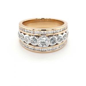 18K TWO-TONED 34 DIAMOND RING_0