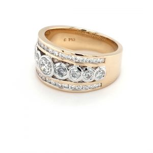 18K TWO-TONED 34 DIAMOND RING_1