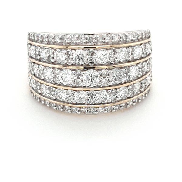 18K YELLOW GOLD DIAMOND RING 1.5CT TOTAL DIAMOND WEIGHT_0