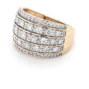 18K YELLOW GOLD DIAMOND RING 1.5CT TOTAL DIAMOND WEIGHT_1