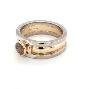 TWO-TONED ARGYLE CHAMPAGNE DIAMOND RING_1