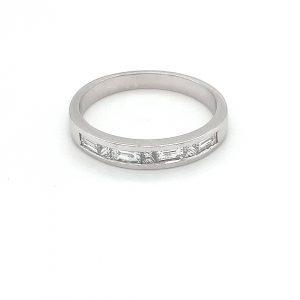 18K WHITE GOLD BAGUETTE AND PRINCESS CUT DIAMOND WEDDING BAND JR7R323AA874_0