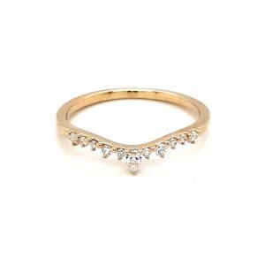 9K YELLOW GOLD TIARA DIAMOND WEDDING BAND RD323-17-9Y_0