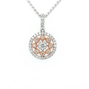 18K WHITE AND ROSE GOLD ARGYLE PINK FLORAL PENDANT_0
