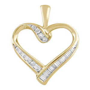 9K YELLOW GOLD HEART SHAPED RING_0