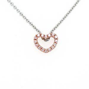 18K ROSE GOLD ARGYEL DIAMOND HEART PENDANT_0