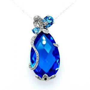 LARGE BLUE TOPAZ PENDANT_0