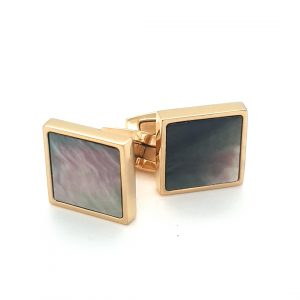 STAINLESS STEEL GOLD PLATED MENS CUFF LINKS_0