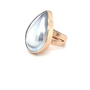9K YELLOW GOLD ABROHLOS MABE PEARL RING._1