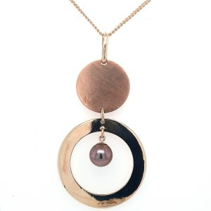 9K YELLOW AND ROSE GOLD ABROLHOS PEARL PENDANT_0