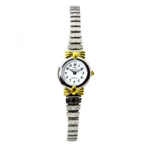 Stainless Steel Watch with Gold Coloured Ribbons_0