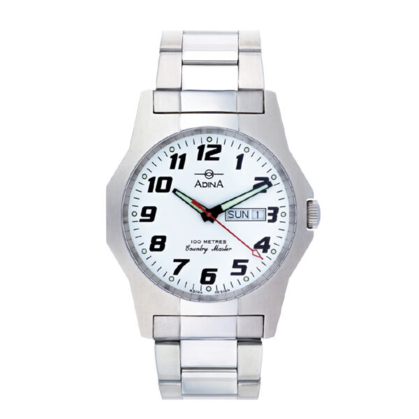 GENTS 100M COUNTRY MASTER Stainless Steel White FF BLET NK172 S1FB_0
