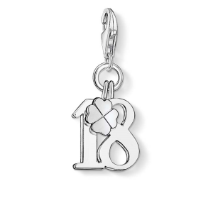 """CHARM PENDANT """"LUCKY NUMBER 18""""_0"""