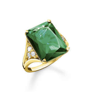GREEN STONE RING IN GOLD_0