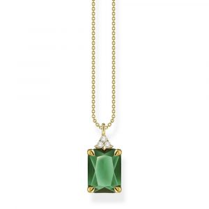 GREEN STONE NECKLACE GOLD_0