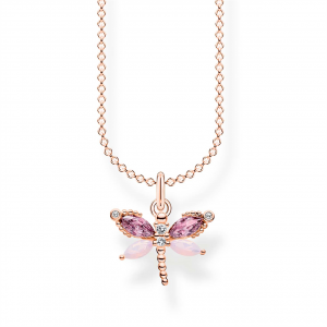 NECKLACE DRAGONFLY ROSE GOLD_0