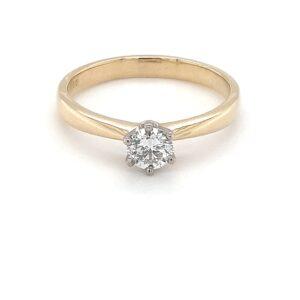 18K HALF CARAT DIAMOND ENGAGEMENT RING_0