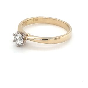 18K HALF CARAT DIAMOND ENGAGEMENT RING_1