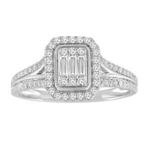 Royal Diamond 9k White Gold Diamond Ring_0