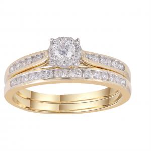 Royal Diamond 9k Yellow Gold Bridal Set_0