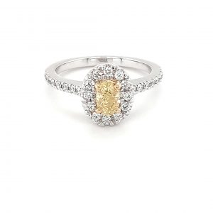 Leon Bakers 18k White Gold Yellow Diamond Ring_0