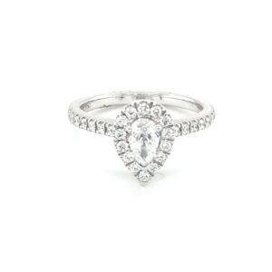 Leon Bakers 18k White Gold Pear Cut Diamond Ring_0