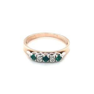 Leon Baker's 9K Yellow Gold Emerald and Diamond Ring_0